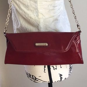 Anne Klein Patent Leather Convertible clutch